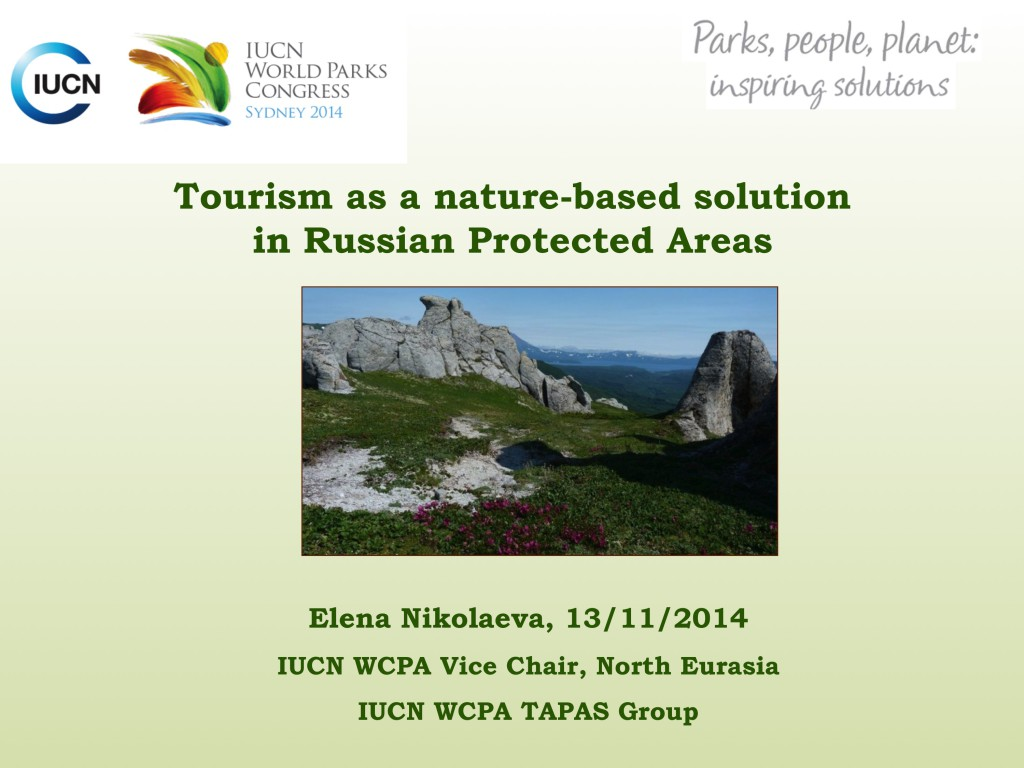 Tourism as a nature-based solution in Russian Protected Areas