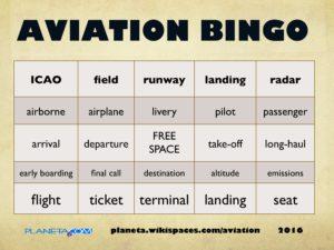 aviation buzzword bingo