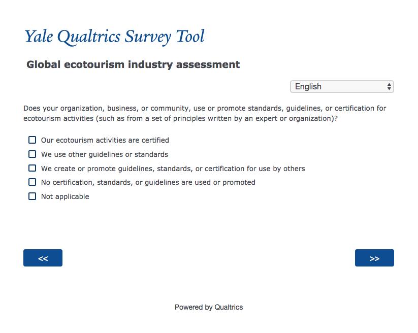 Global Tourism Survey