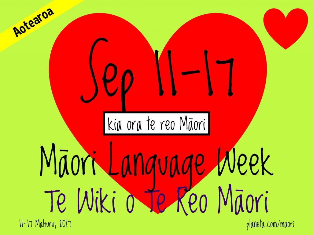 Māori Language Week / Te Wiki o te Reo Māori 2017