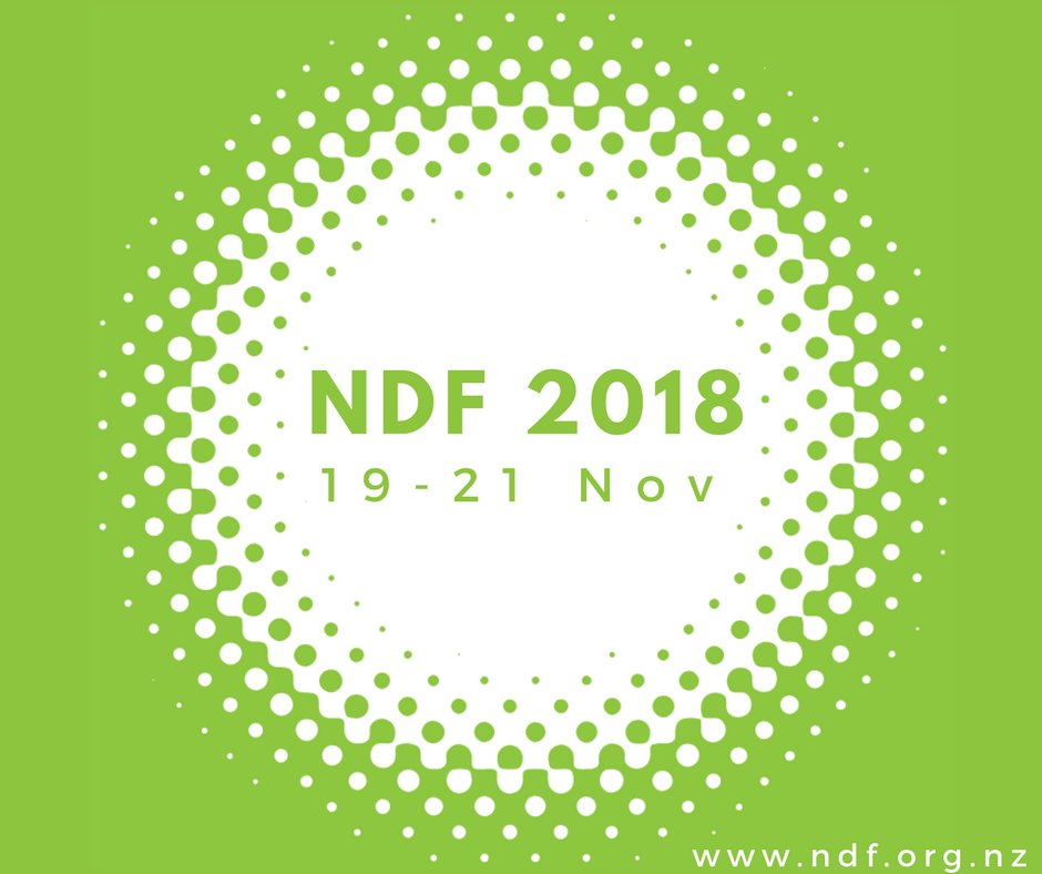 New Zealand's National Digital Forum #NDFNZ 2018