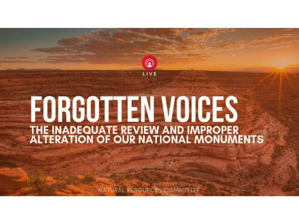 Forgotten Voices, Natural Resources Committee