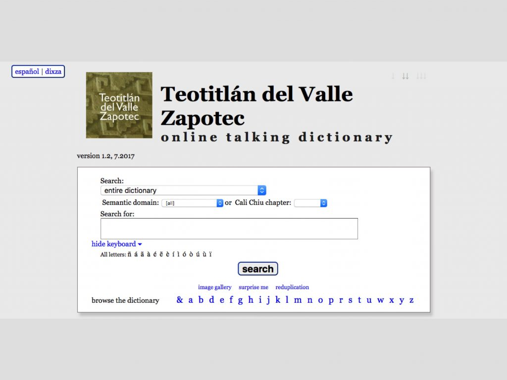 Teotitlán del Valle Talking Dictionary